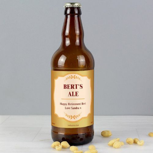 Personalised Gold Wheat Beer